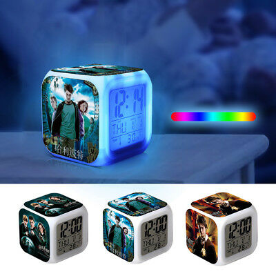 Hot Harry Potter Hermione Alarm Clock 7-Color Changing Alarm Clock in Box Gift U