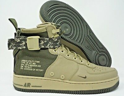 Nike Mens SF Air Force 1 MID Shoes, 917753 201 multi size OliveCargo Khaki