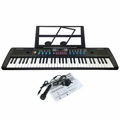 JJPRIME 61 Keys Digital Electronic Keyboard & Microphone Electric LED Music