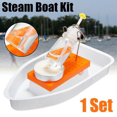 Candle Powered Steam Boat Toy Physics Science Experiment DIY Assembly Tool Kits