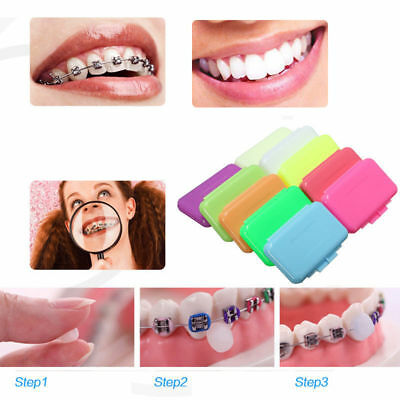 3/9/15 Packs Fruit Scent Dental Orthodontics Ortho Wax For Braces Gum Irritation