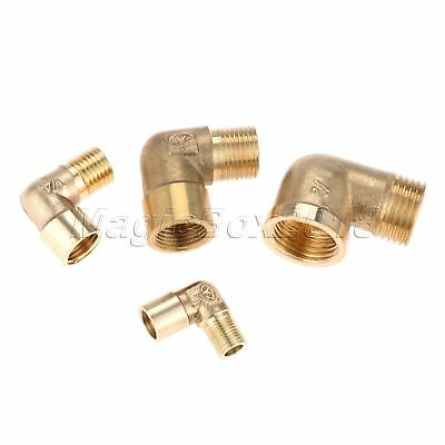 "1/8"" 1/4"" 3/8"" 1/2"" Female to Male Thread 90 Degree Brass Elbow Fitting Adapter"