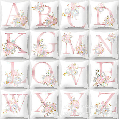 Letters English Alphabet Cushion Cover Home Kids Room Decor Throw Pillow Case