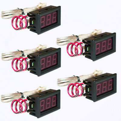 5pc K-type Thermometer High Temperature Tester with LED Digital Display M6 Probe