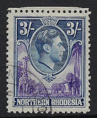 NORTHERN RHODESIA : 1938 3/- violet and blue  SG 42  fine used