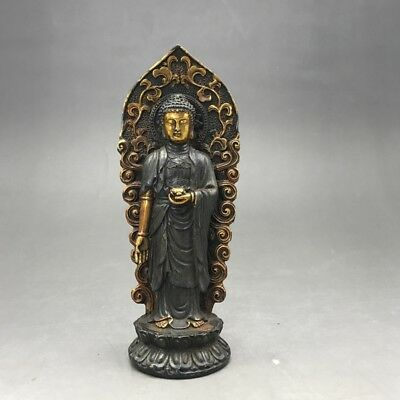 Exquisite collect China Old carving copper statue- Buddism godness Guanyin Gift