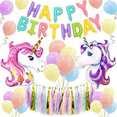 MMTX Unicorn Party Decorations Supplies, con 2 Enorme Unicorn (multicolor)