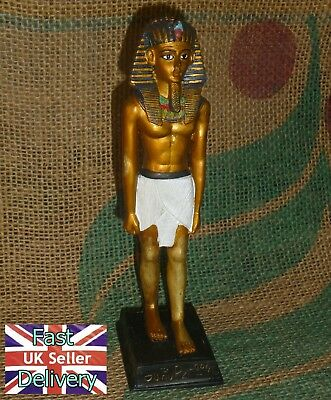 "Old Egyptian Tutankhamun Figure (Resin). 7"" Tall."