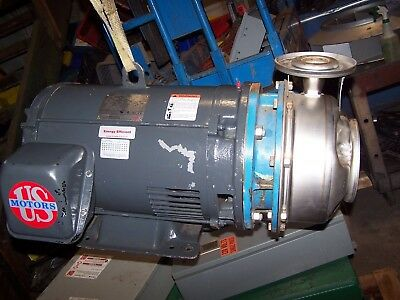 """Goulds B&G  40 Hp Stainless End Suction Centrifugal Pump 2-1/2"""" X 2""""  3550 Rpm"""