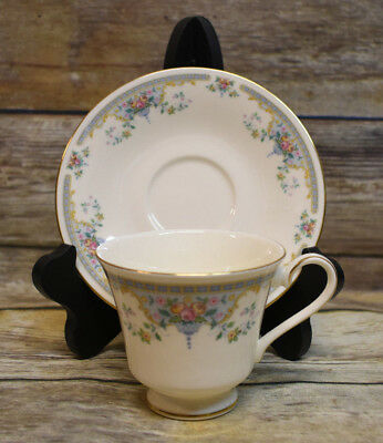 Royal Doulton Juliet Romance Footed Cup & Saucer England H5077