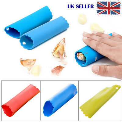 Garlic Peeler Tube Silicone Easy Peel Stripper Grater Tool Gadgets Dining Room