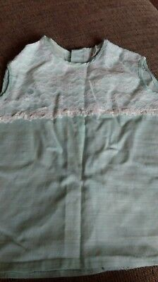 vintage babies dress 1970s , 6 to 12 months