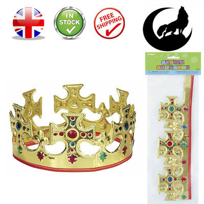 Novelty Majestic King Queen Gold Crown Hat Kid Children Dressing Up  Birthday Toy 72742f10a6ec