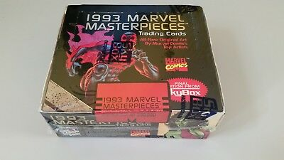 1993 SkyBox - Marvel Masterpieces - Serial Numbered & Factory Sealed Box