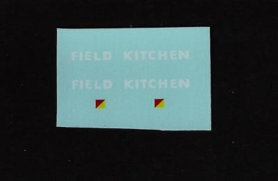 Spot-On 417 Military Field Kitchen Transfers/decals