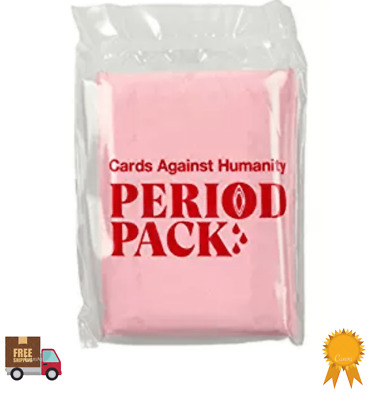 Cards Against Humanity Period Pack Card game extension limited edition