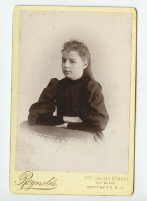 Cab Card Photo Girl From Brooklyn, Ny, By Reynolds, Graphic Back