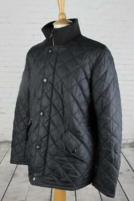 Mens Barbour Chelsea Rib Neck Quilted Jacket Coat Terrace Casuals Black Large