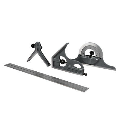 """12"""" Carbon Steel Combination Square Protractor Set Bevel Angle Ruler"""