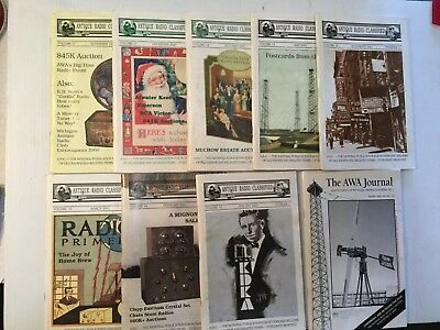 Antique Radio Classified 8 Issues Post 2000 AWA Journal (2005)