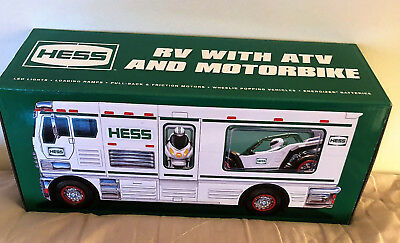 Hess 2018 Toy Truck RV with ATV and Motorbike NEW