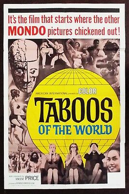 Taboos Of The World 1965 Vincent Price Original US One Sheet Poster