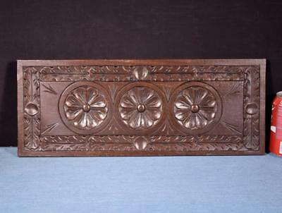 *French Antique Breton Hand Carved Architectural Panel Solid Chestnut Wood