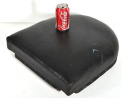 """Koken Padded Seat Cushion Barber Shop Chair Part Wood Leather 19"""" x 18"""""""