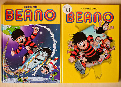 Beano Annual 2017 and 2018 (Annuals 2017 and 2018). Very good condition.