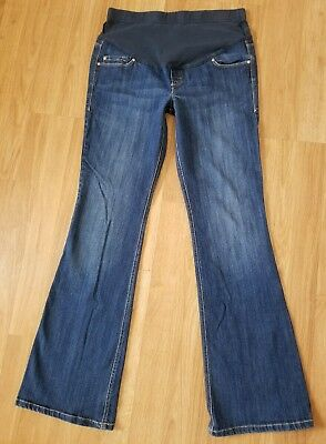 Old Navy Maternity Jeans Full Panel Flare Womens Size 2 Stretch 31L Pants D155