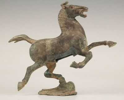 China Rare Bronze Unique Hand Carving Horse Animal Statue Old Antique Collection