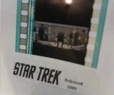 Authentic STAR TREK (2009) Movie Film 5-Cells CAPTAIN KIRK & CREW ON BRIDGE