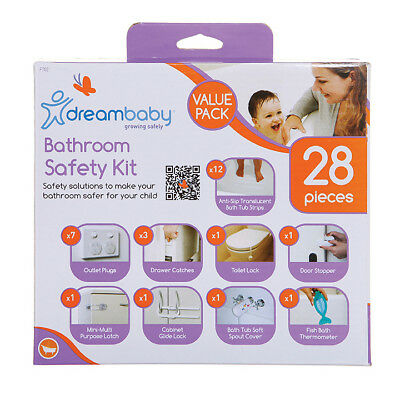 Dreambaby Bathroom Safety Kit 28pc Value Pack Multipurpose Baby Proofing