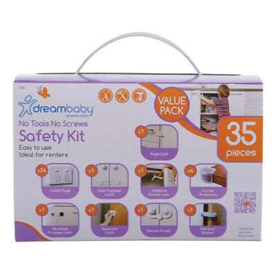 Dreambaby No Tools No Screws Safety Kit 35pc Value Pack Baby Proofing Universal