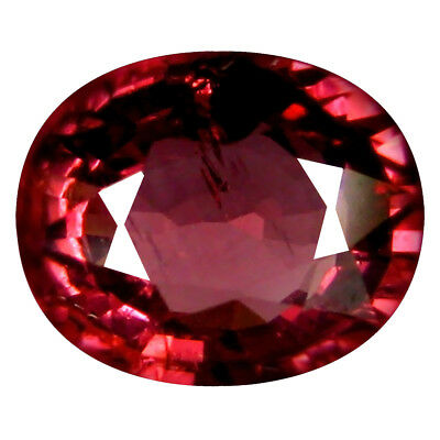 1.75 Ct AAA+ Miroitantes Forme Ovale (8 X 6 mm) Rosé Rouge Grenade Rhodolite