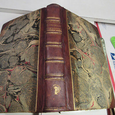 ANCIENTS HAD OF INDIA/1791/RARE 2nd Ed./2 COPPER ENGRAVED MAPS/FINE LEATHER BNDG