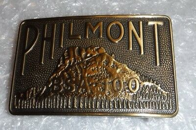 Philmont Scout Ranch BSA 100 Anniversary Tooth of Time Belt Buckle