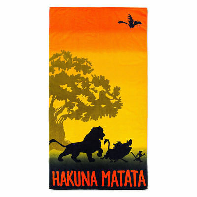 Disney Parks The Lion King Simba Pumbaa Hakuna Matata Beach Towel NWT FREE SHIP