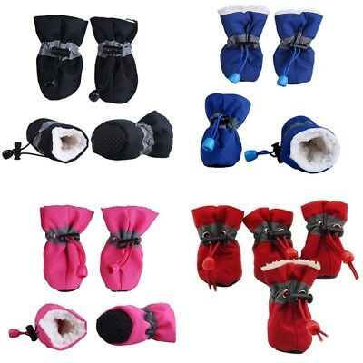 US Winter Warm Pet Dog Rain Boots Anti-Slip Puppy Shoes Protective Sock Booties