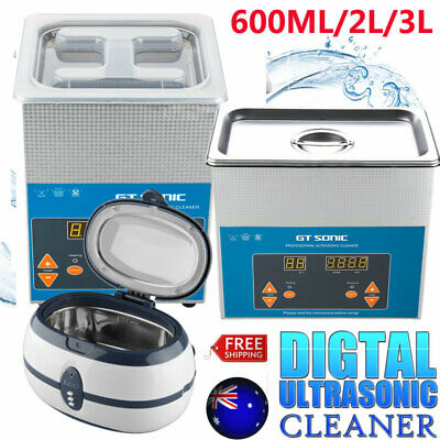 600ml/2L/3L Multi Purpose Ultrasonic Cleaner Sonic Tank Watch Jewellery Cleaning