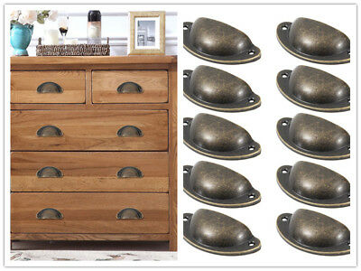 Vintage retro old style rustic cast iron kitchen cupboard cabinet drawer fitting