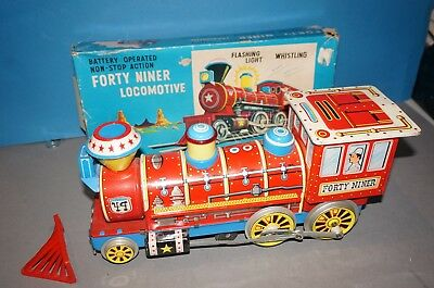 "RF26-15] Trade Mark Modern Toys Blechlokomotive "" Forty Niner "" OVP -fährt-"