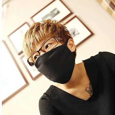 Adult Unisex Outdoor Mouth Anti-Dust Face Mask Fashion Black Respirator Mask US