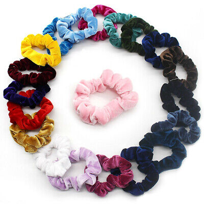 20Pcs Hair Scrunchies Velvet Elastic Hair Bands Scrunchy Hair Ties Ropes Scrun A