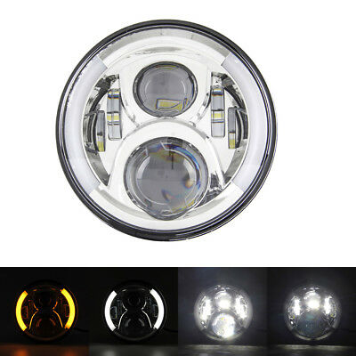 7 Inch Motorcycle LED Headlight Daymaker Kidney Turn Signal for Harley Sportster