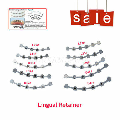 Dental Orthodontic Lingual Retainer Splits Wire Mesh Mark Backing 10Types UK NEW