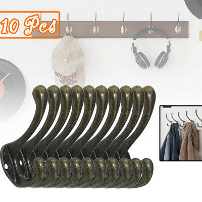 New 10X Cast Alloy Old Style Industrial Vintage Rustic Iron Coat Hooks Uk