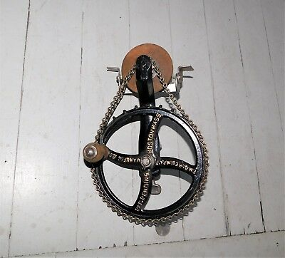 Empire Hand Crank Sharpening Wheel Stone, Gear + Chain Drive  Industrial Age