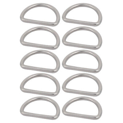1 1/2 Inch Inner Width 304 Stainless Steel D Welded Ring Silver Tone 10pcs