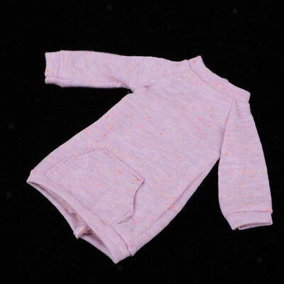Handmade Doll Clothing Hoodie Outerwear For 1/6 Blythe Azone Doll Purple